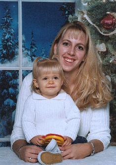 Cindy & Jenna Thomson Christmas 2002